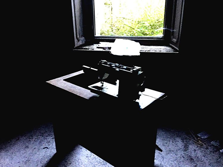 Sewing machine Retro Lostplaces Window Sewing Machine Bavaria