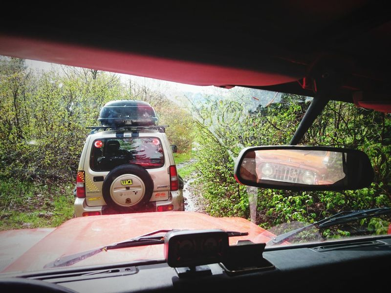 Live For The Story Red OutdoorsCar Land Vehicle Offroad Defender90 Day Mode Of Transport Adventure Springtime Spring Travel