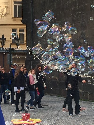 Bubble Wand Bubble Fun Enjoyment Large Group Of People Fragility Crowd The Street Photographer - 2018 EyeEm Awards