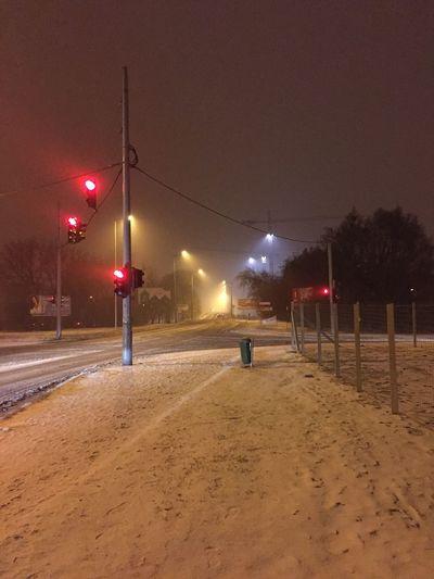 Empty roads... Illuminated Night Street Light Cold Temperature Winter No People Budapest Budapest, Hungary Its Cold Outside Winter Snow ❄ Snow Street Light Tél Tábornok Nem Adja Fel Cranes Zugló
