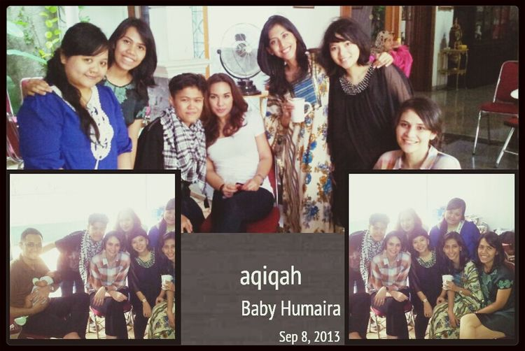 Aqiqah Baby humaira with Friends