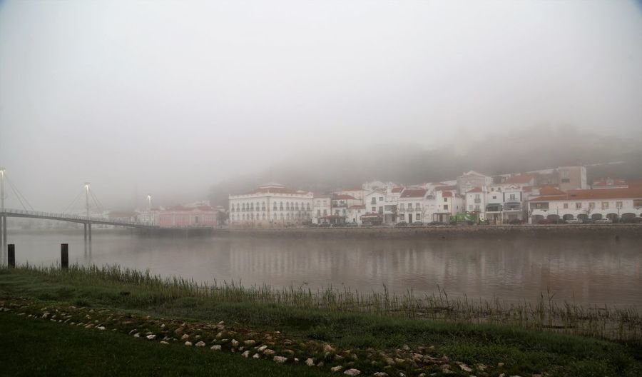 The Myst Portugal Alcacer Do Sal Morning Building Exterior Architecture Fog Built Structure Water City Sky Building Environment Day
