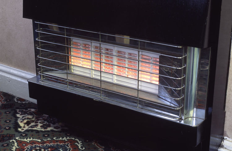 old style gas heater 70's Fire Gas Fire Gas Heater Heat Home Interior Hot Indoors  Old Retro Wall