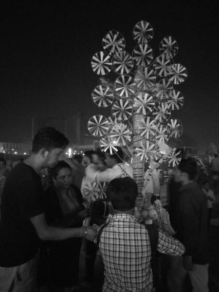 Enjoyment Arts Culture And Entertainment Fun Nightlife Entertainment Event Party - Social Event Mela Dashera Black & White Monochrome Photography Hand Held Windmill