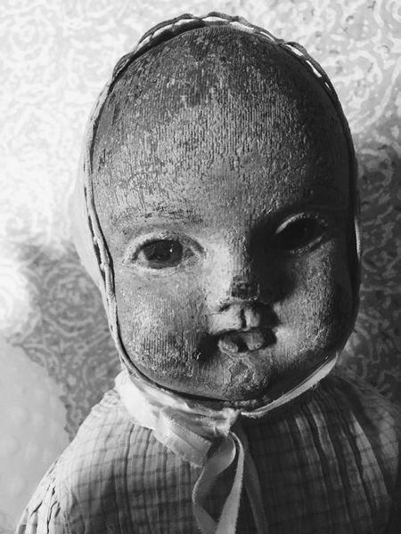 B&W Portrait Old Doll OpenEdit Portrait Blackandwhite Dollface Babydollface Dolls Doll Face Babydoll