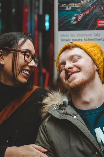 Couplegoals Smiling Happiness Two People Togetherness Young Adult Emotion Moments Of Happiness Lifestyles Portrait Adult Young Women Warm Clothing Young Men Positive Emotion Couple - Relationship