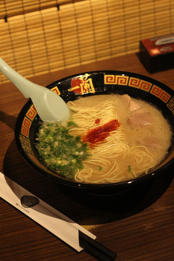Food And Drink Hong Kong Ichiran Ramen Japan Japanese  Japanese Food Noodles Bowl Chopsticks Close-up Day Food Food And Drink Freshness Healthy Eating Indoors  No People Noodle Soup Noodles Ramen Ready-to-eat Serving Size Soup Soup Bowl Table