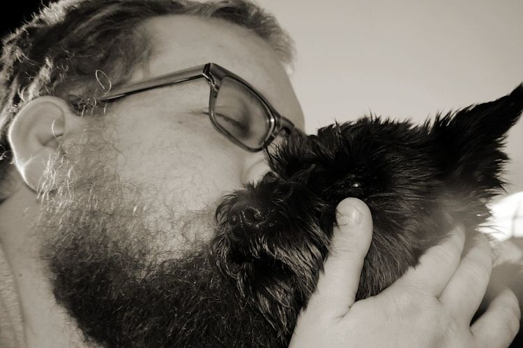 My husband and his princess 👸Only Men One Man Only Beard Adult One Person Adults Only Mature Adult One Animal People One Mature Man Only Eyeglasses  Pets Indoors  Close-up Headshot Day Mammal EyeEmNewHere Eyeemselects Princess Furbaby Miniature Schnauzer PawfectPhotography Love Family