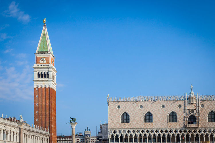 Cathedral and doge palace at st mark square