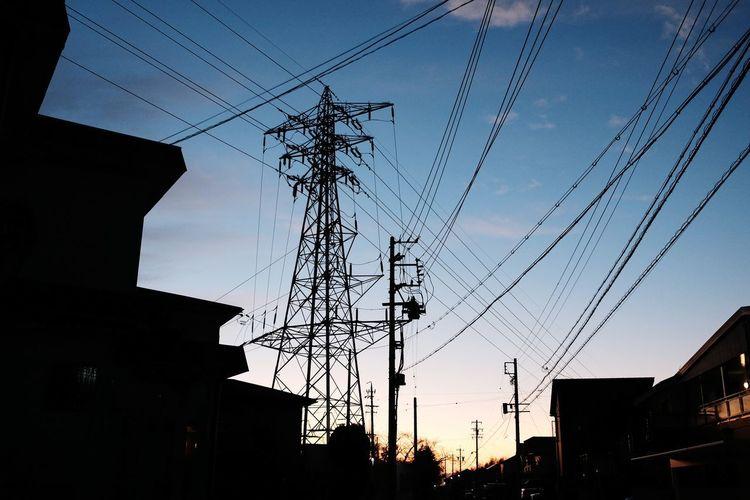 Electricity Pylon Bird Electricity  Cable Telephone Line Technology Silhouette Power Line  Sky