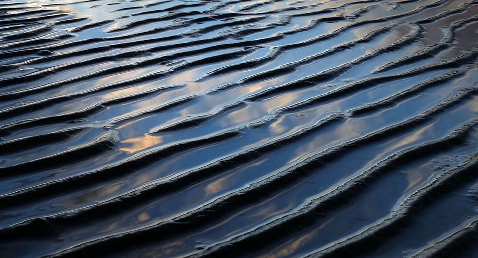 Abstract Nature Backgrounds Pattern No People Water Rippled Natural Pattern Beauty In Nature Wave Pattern Textured  Sea Close-up Sand Reflection