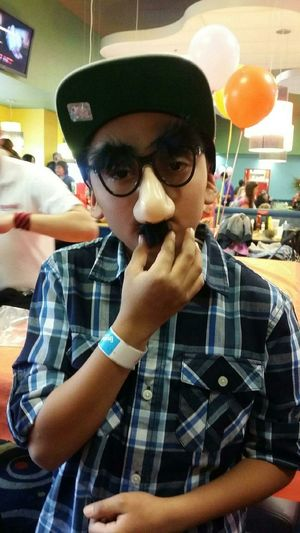 My son clowning