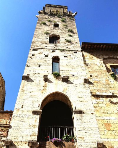 San Gimignano Clear Sky Blue Outdoors Architecture Building Exterior Bell Tower - Tower No People Bella Italia