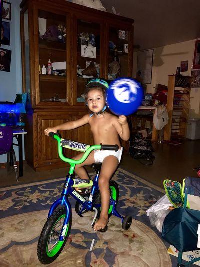 Birthday bike, 3 years old