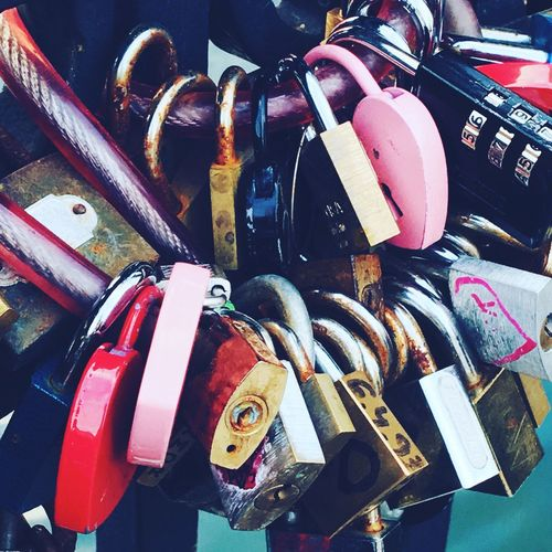 Love lock Copenhagen, Denmark