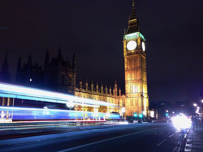 Big Ben at night Long Exposure Belong Anywhere Light Trails Color Explosion