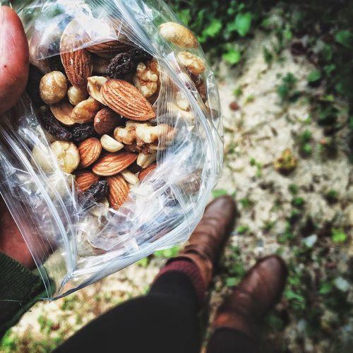Trail Mix Hiking Outdoors Food Snack Lookingdown