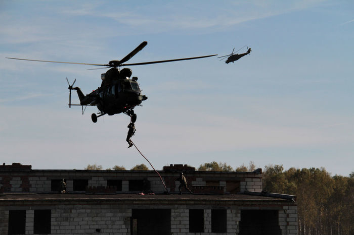 MI24 Soldier Antiterrorism Architecture Flying Helicopter Mi24dhind Mid-air Special Forces