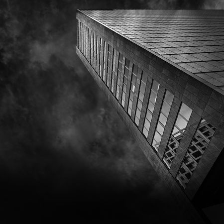 Ares Tower by architect Heinz Neumann in Donau City Vienna Architecture Ares The God Of War Blackandwhite City Cityscape Clouds And Sky Donau Façade Skyscraper Symmetry Urbanphotography View