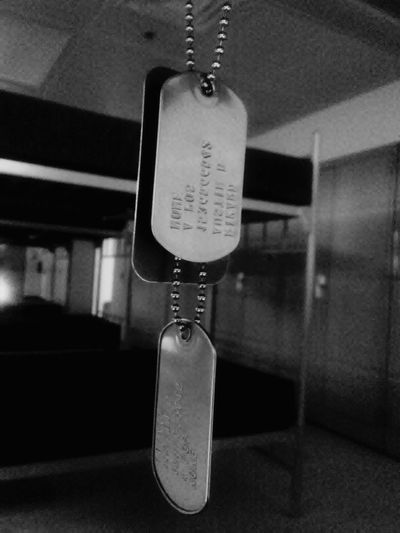 Dogtags Army Life Army Barracks Black And White Photography Indoors