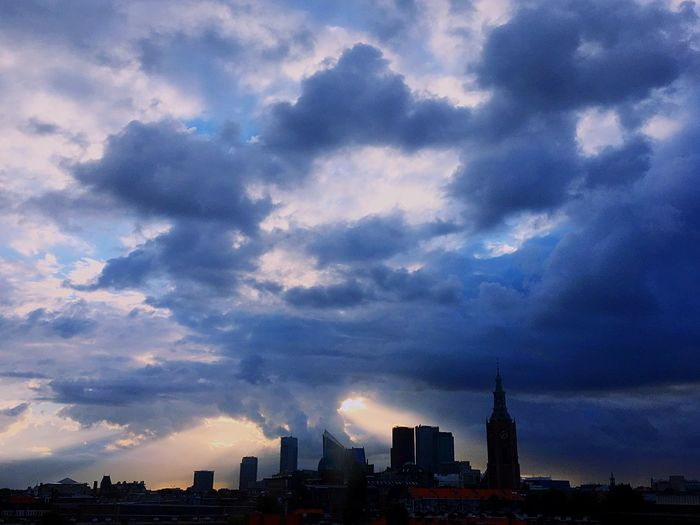 Netherlands The Hague the morning after a heavy thunderstorm Check This Out Taking Photos Morning Light Morning Sky Clouds And Sky View From Building Scary Sky Hello World Skyview Panoramic Photography Scary Sunrise