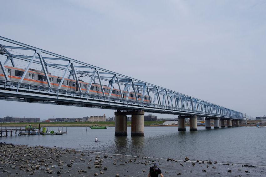 妙典/Myoden Bridge Edogawa Fujifilm FUJIFILM X-T2 Fujifilm_xseries Japan Japan Photography Myoden River Riverside Tozai Line X-t2 妙典 日本 東西線 江戸川 鉄橋 Train Train - Vehicle