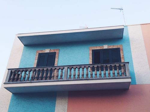 House Front View Pastel Pastel Power Pastel Tones Architecture Architectural Detail Outside From My Point Of View Detail Facades Village Village Life in Italy Building Exterior Low Angle View Balcony Pattern Built Structure TakeoverContrast