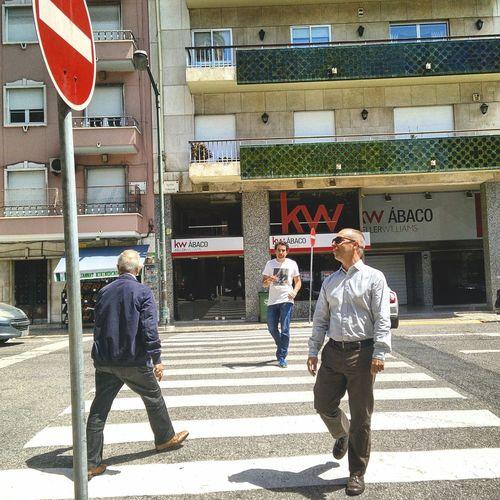 Friends Crossing a Passadeira Friendship Passadeiras Greetings Street Photography