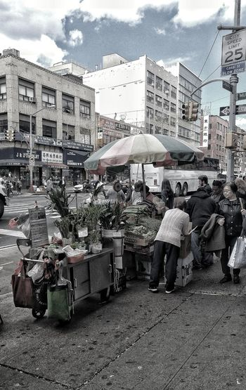 Street Vendors Chinatown New York Day Outdoors Sky Real People
