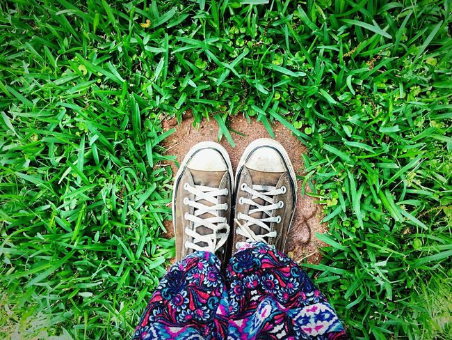 From Where I Stand Converse Chucks Chuck Taylor Shoes Grass