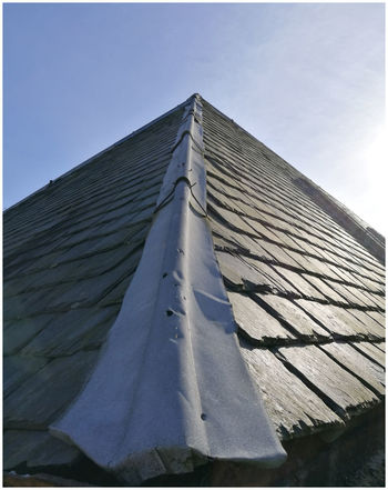 Sky Outdoors Clear Sky Day Tiles Roof flashing Point apex Outhouse