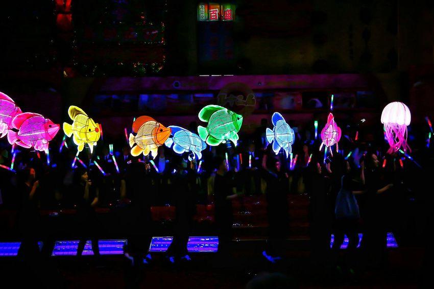水晶宫 Crystal Palace Aquarium - 大角咀廟會 Luminous Night Dragon Dance 2016 Tai Kok Tsui Temple Fair 2016 Lowlight Lowlightphotography Night Lights Street Photography Light And Shadow Night Photography Capture The Moment EyeEm Gallery EyeEm Masterclass Tai Kok Tsui Hong Kong Crystal Palace Aquarium Cities At Night