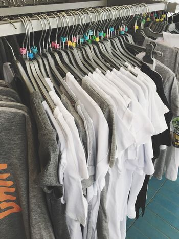 Coathanger Clothing Large Group Of Objects Hanging Retail  Clothes Rack Fashion No People Indoors  Boutique Day