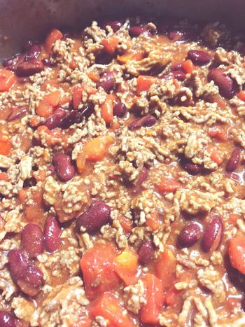 Chili Supper - Homemade Food Food And Drink Freshness Indoors  Healthy Eating Ready-to-eat No People Close-up Day Chili  Kidney Beans Beans Tomatoes Cooking Cooking At Home Dinner Supper Meals Mealtime Yummy Delicious Healthy Food Homemade Food Homemade