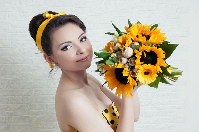 Model Flower Garden Flower Fantasy Modelfoto Foto Retro Fotografie Stil Makeup