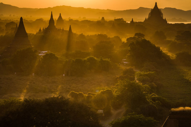 No People Outdoors Sunset in Bagan, Myanmar Neighborhood Map The Great Outdoors - 2017 EyeEm Awards