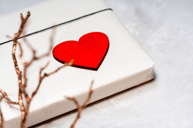 Close-Up Of Heart Shape Made On Box