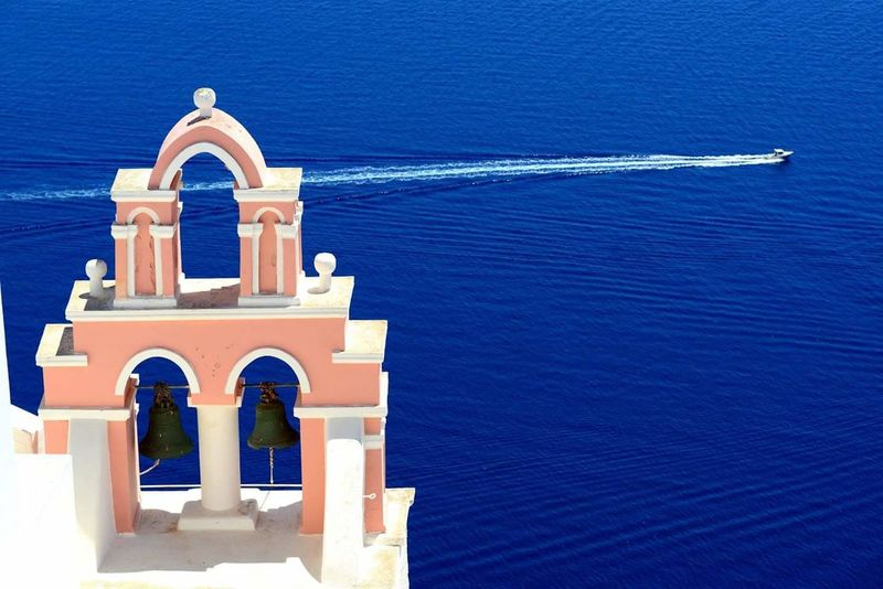 43 Golden Moments Check This Out Church sea Hello World Enjoying Life My Humble Photo Sea View Beautiful Visit Greece Santorini Island Travel Photography Boats⛵️ Blue Sky