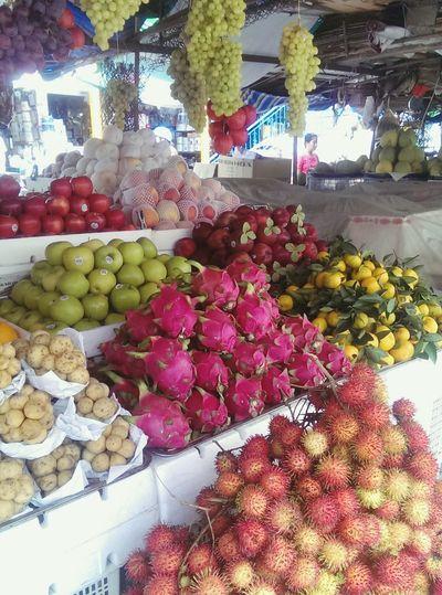 Fruit market in my home town. Vietnamese Food