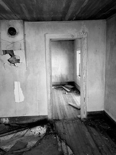 """""""Once Upon A Time In Cedarvale No. 6"""" One room t' the other. Abandoned House New Mexico Photography New Mexico Light And Shadow Light Interior Abandoned Buildings Abandoned Places Abandoned Blackandwhite Photography Black & White Black & White Black And White Blackandwhite Indoors  No People"""