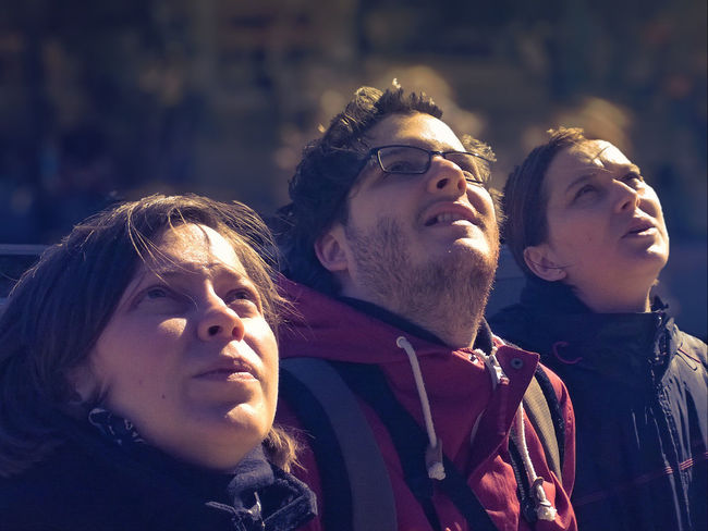 Admire Admiredperson Feel The Journey Focus On Foreground Group Of People Human Face Lookingat Lookingup