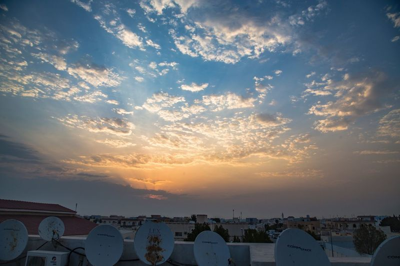 Al Rayyan - Qatar Sunrise Sunrise City Cloud - Sky Aerial View Cloud Sky Outdoors Residential District No People