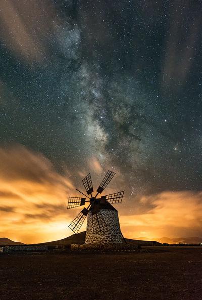 Cloud Light Pollution Nightphoto Nightphotography Nikon Windmill Long Exposure Milky Way Night