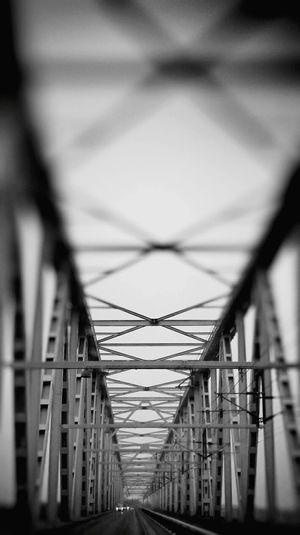 Bridge Steel Funen Denmark On The Road Work Traveling