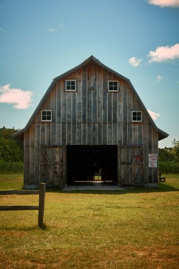 Architecture Bad Condition Barn Barn Building Built Structure Deterioration Farm Farm Life Field Grass No People Old Wooden
