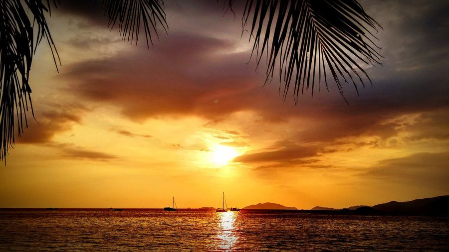 Sunset Thailand Relaxing Time Travel Backpacker Summertime Happy