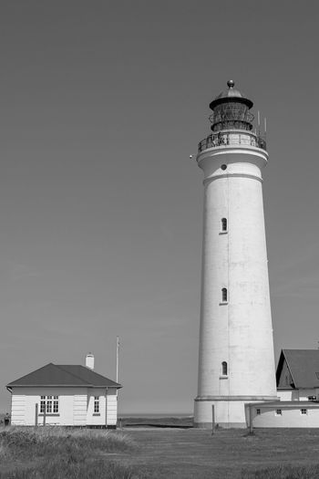 Bw Visitdenmark Fujifilm X-t20 Architecture Built Structure Guidance Building Exterior Lighthouse Security Tower Safety Building Direction No People Sea Land