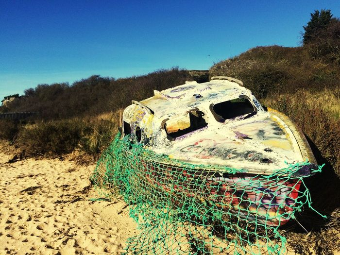 Graffitied boat The Great Outdoors - 2017 EyeEm Awards