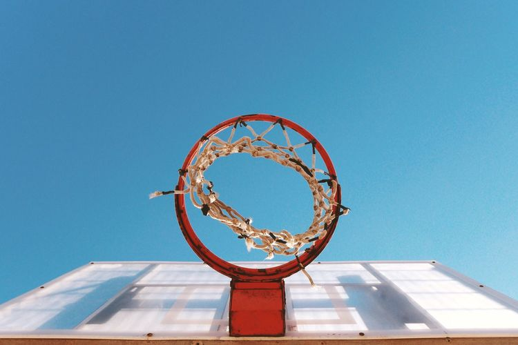 Basket Basketball Sky Up Urban Urban Lifestyle Israel Springtime Eye4photography  EyeEm Best Shots Play Playground Showcase April Blue Wave The Street Photographer - 2016 EyeEm Awards Genuine Brazil Images Fine Art Photography Colour Of Life Colour Palette Color Palette The Color Of Sport
