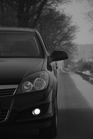 Astra B&w Car Close-up Day Land Vehicle Mode Of Transport Nature No People Opel Opel Astra Outdoors Road Sky Transportation Tree